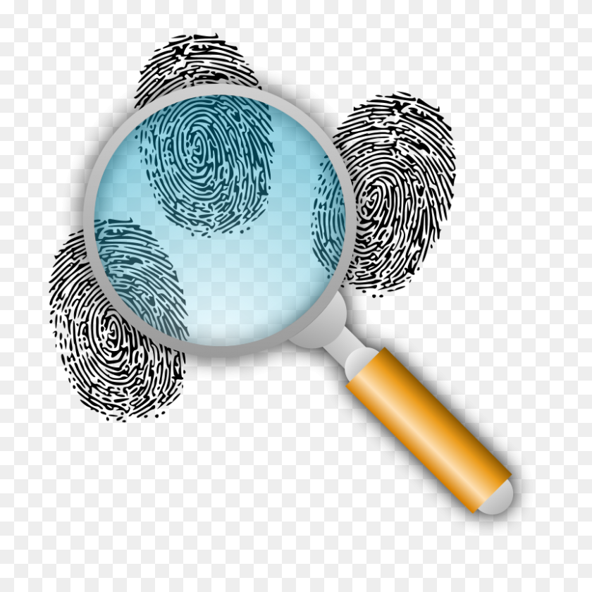 800x800 Search For Fingerprints Clipart Detective Top Secret Agents - Forensic Science Clipart