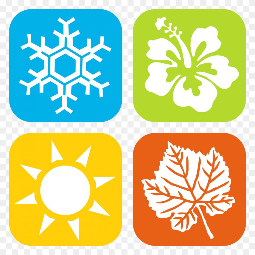2400x2400 Seasons Icons - Montessori Clipart
