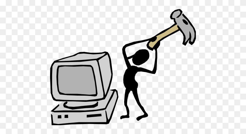 Secure Data Disposal - No Electronic Devices Clipart