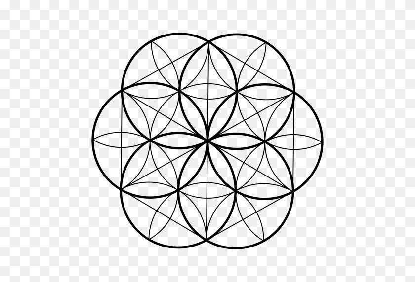512x512 Seed Life Sacred Geometry - Sacred Geometry PNG