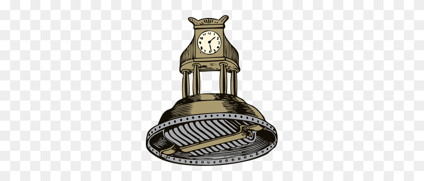 Self Winding Clock Vector Illustration - Winding Road Clipart