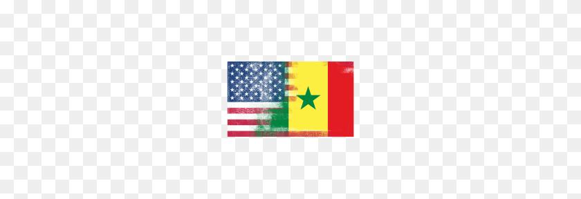Senegalese American Half Senegal Half America Flag - American Flag PNG