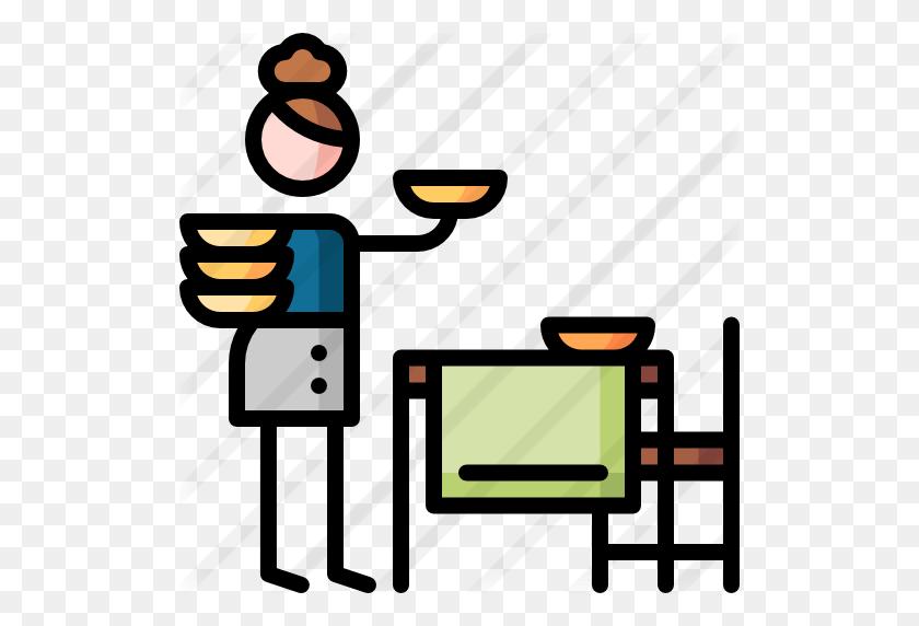 512x512 Setting The Table - Table Setting Clip Art