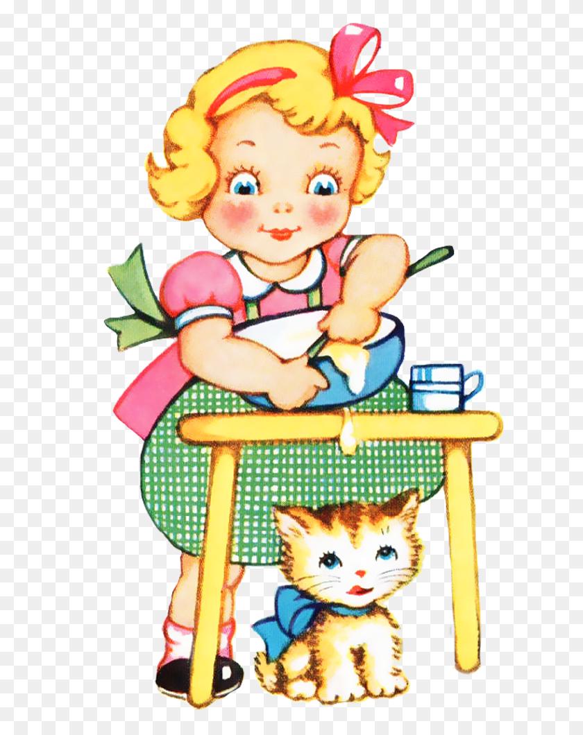 Shabby Blogs Vintage Freebie With Keren Bake Me Pretty Vintage - Vintage Kitchen Clipart