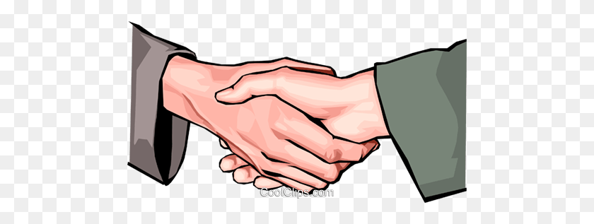 Shaking Hands Royalty Free Vector Clip Art Illustration - People Shaking Hands Clipart