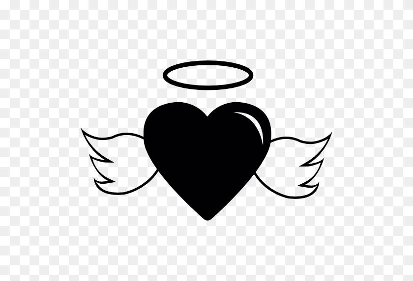 Shapes, Lovely, Angel, Wings, Halo, Heart, Heart Shape Icon - Angel Wings Clip Art