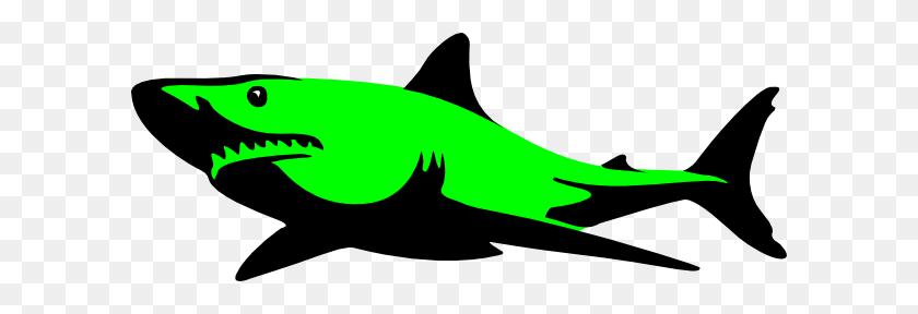Shark Clipart Green - Shark Mouth Clipart