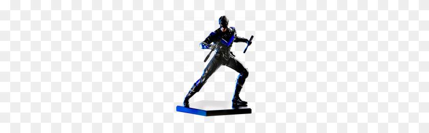 Shazam Statue Iron Studios Shazam Scale Statue Popcultcha - Nightwing PNG