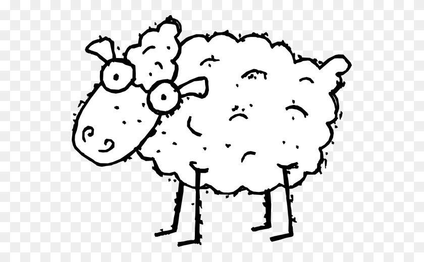 555x459 Sheep Black And White Sheep Clipart Black And White Clipart - Lamb Clipart Black And White