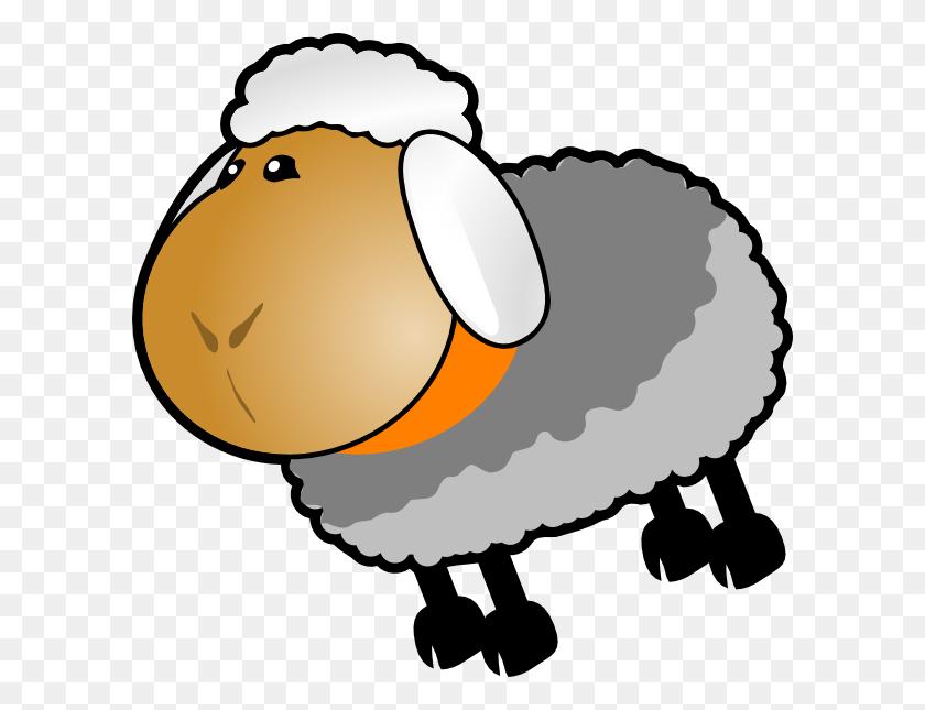 Sheep Grey Yellow Clip Art - Sheep Clipart Black And White