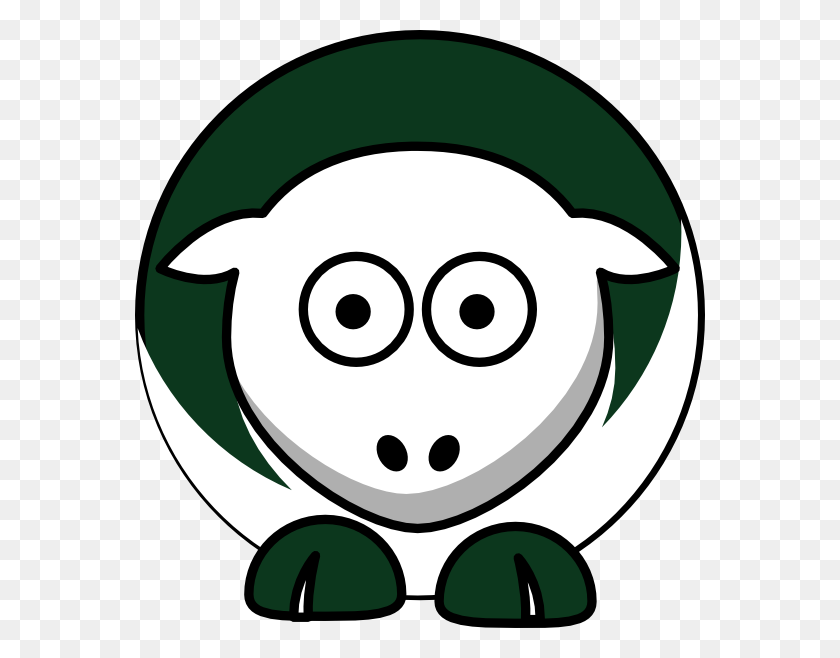 570x598 Sheep Toned New York Jets Colors Clip Art - Mets Clipart