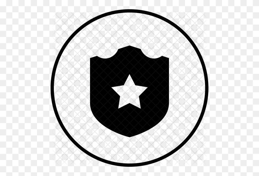 Shield, Batch, Star, Safe, Badge, Sheriff, Police Icon - Police Badge Clipart