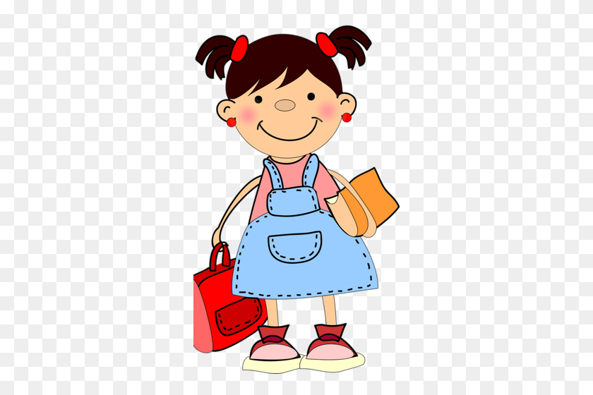 292x500 Shkolniki Clip Art School School, School Clipart - School Girl Clipart
