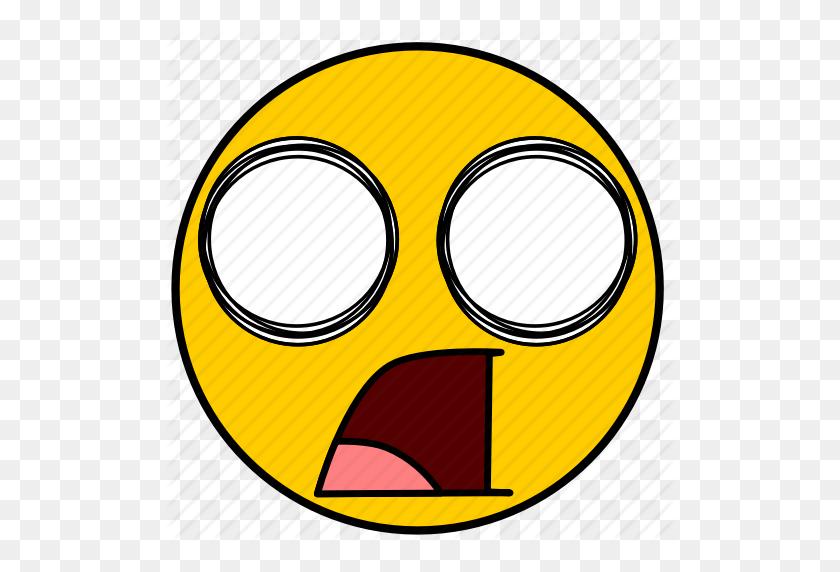 Shock, Shocked, Surprise, Surprised Icon - Shocked Emoji PNG