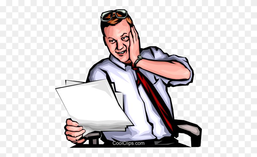 Shocked Man Royalty Free Vector Clip Art Illustration - Shocked Clipart