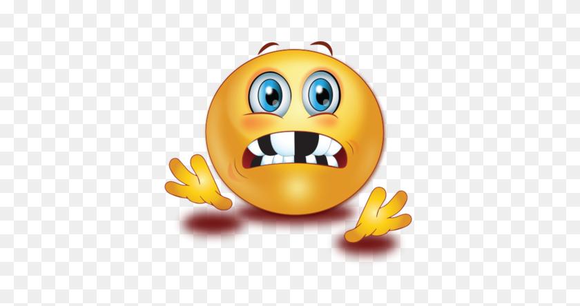 Shocked With Broken Teeth Emoji - Shocked Emoji PNG