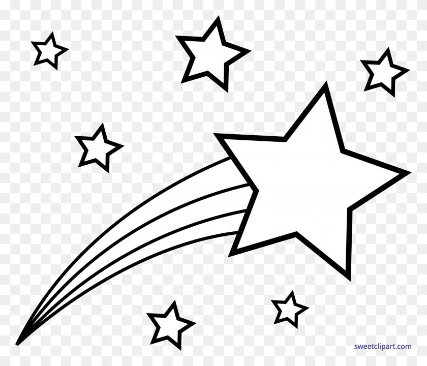 Shooting Star Clip Art - Stars Clipart Transparent