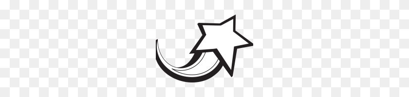 Shooting Star Clip Art Shooting Star Clipart Shooting Stars Clip - Star Clipart Black And White
