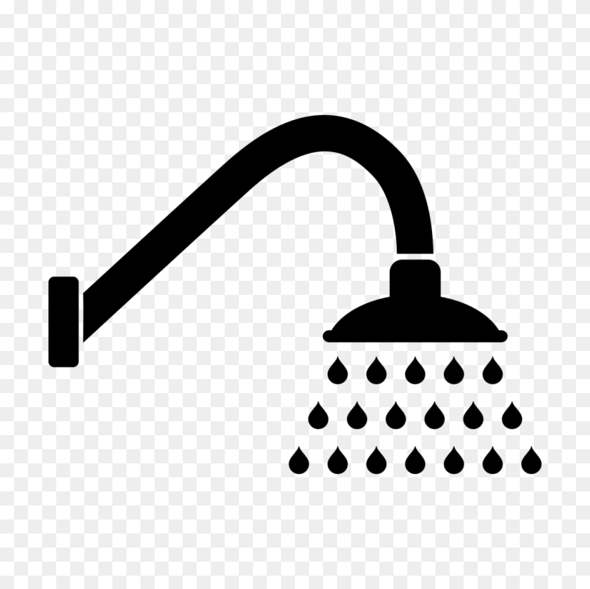 1000x1000 Shower Clip Art Royalty Free Download Black And White Huge - Take A Shower Clipart