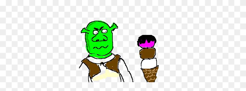 Shrek Hates Ice Cream Drawing - Shrek Clip Art