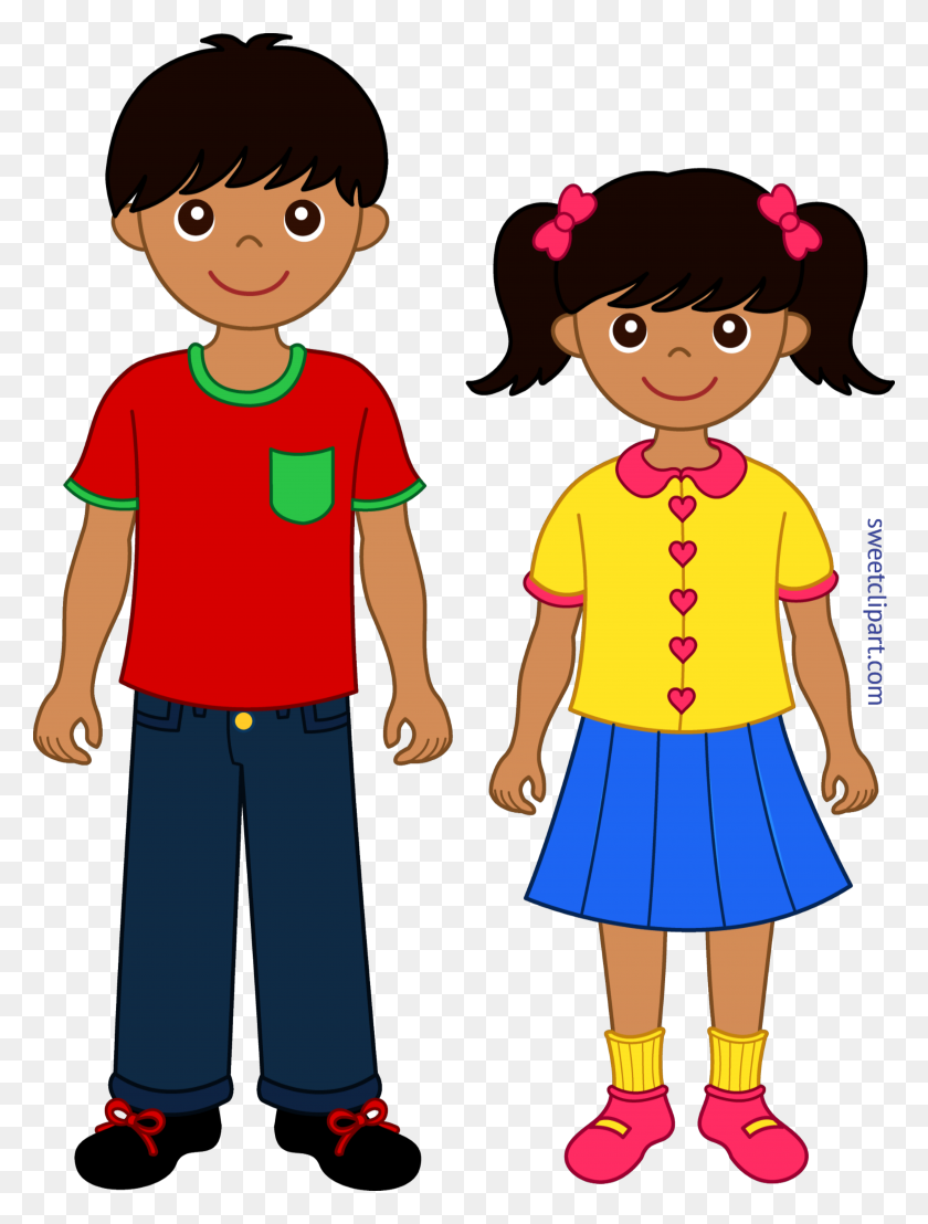 Siblings Clip Art - Brother And Sister Clipart
