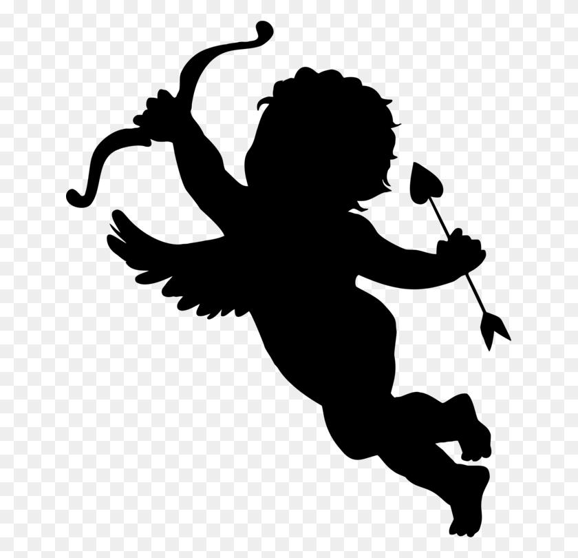 647x750 Silhouette Cupid Cherub Logo Computer Icons - Free Cupid Clipart