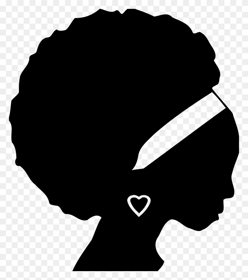 Silhouette Heads Clipart - Deer Head Silhouette PNG