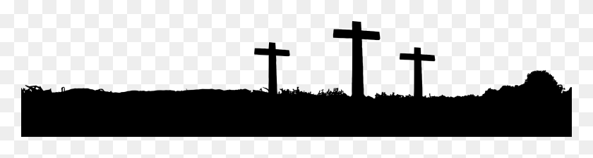 2400x508 Silhouette Landscape Photography Clip Art - Free Easter Cross Clipart