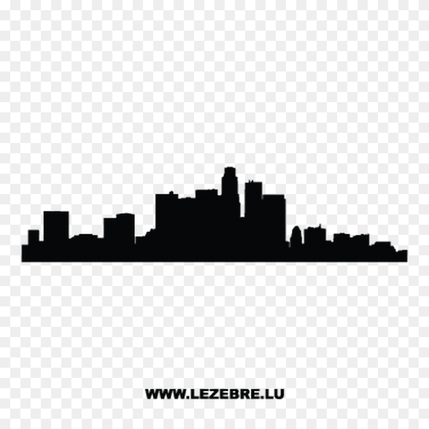 800x800 Silhouette Los Angeles Decal - Los Angeles Clipart