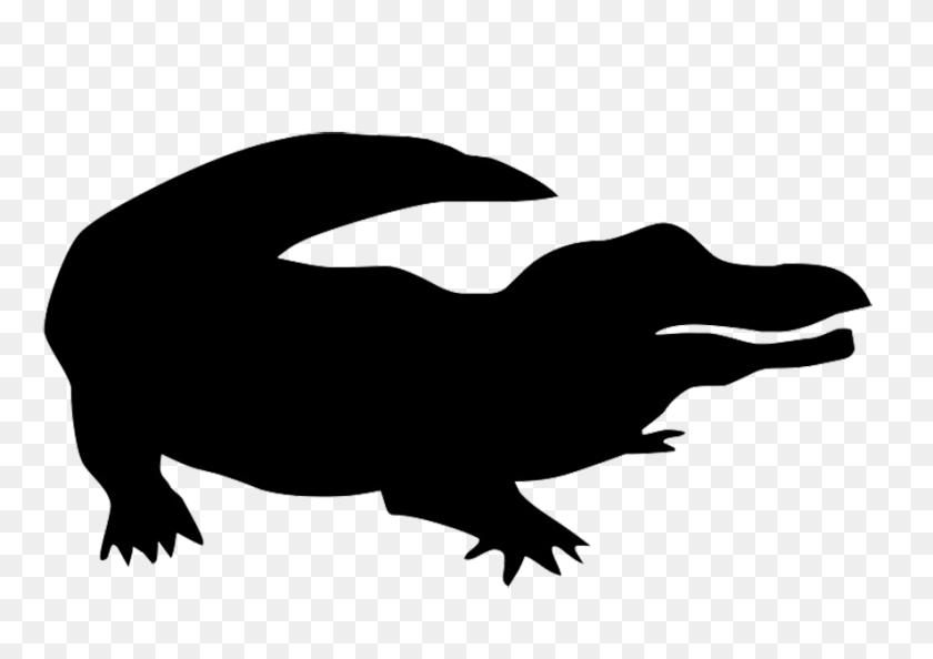 Silhouette Of Crocodile Zoo Animals Unit Animal - Crocodile Clipart