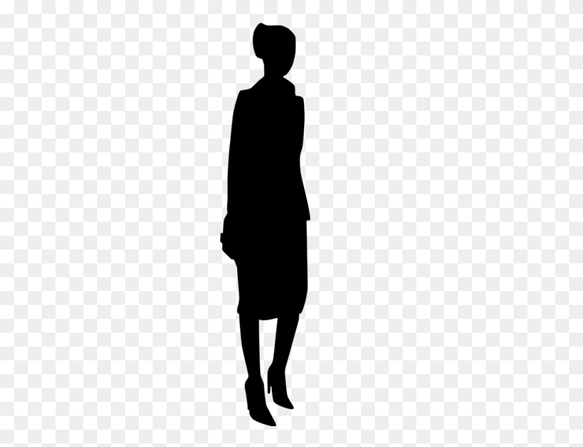 Silhouette Person Download Female Computer Icons - People Standing PNG
