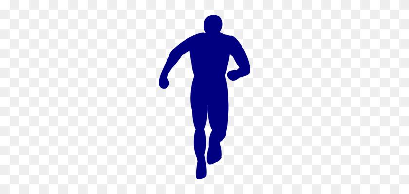 Silhouette Running Encapsulated Postscript - Running Man Clipart