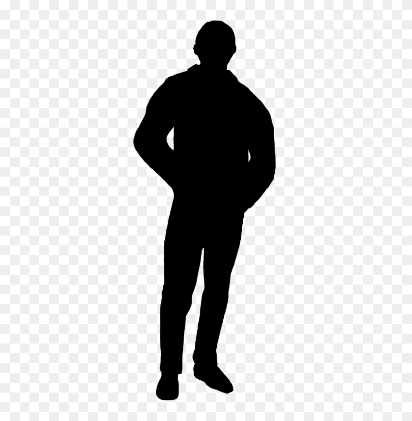 323x798 Silhouettes Of People - Man Silhouette PNG