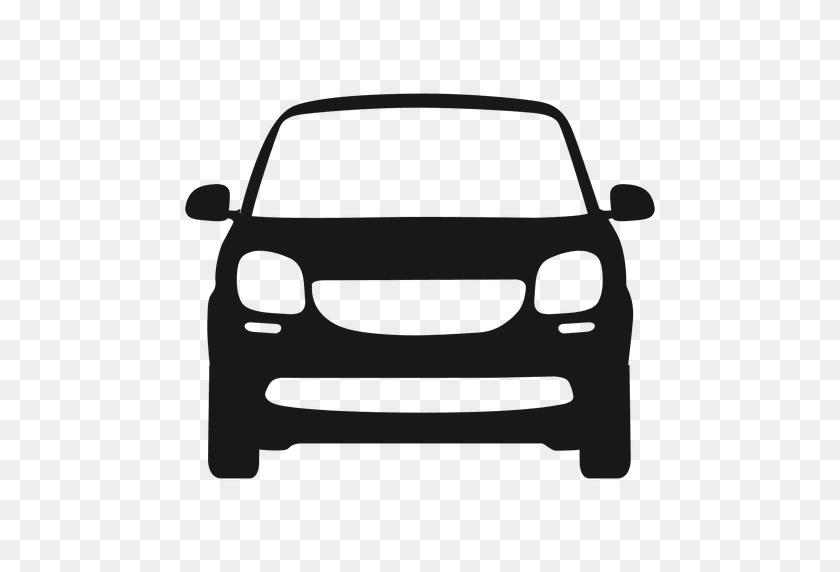 Silhueta Da Frente Da Frente Do Carro Inteligente - Carro PNG
