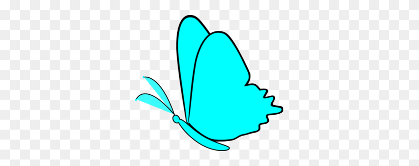 Simple Blue Butterfly Png, Clip Art For Web - Butterfly Clipart Transparent