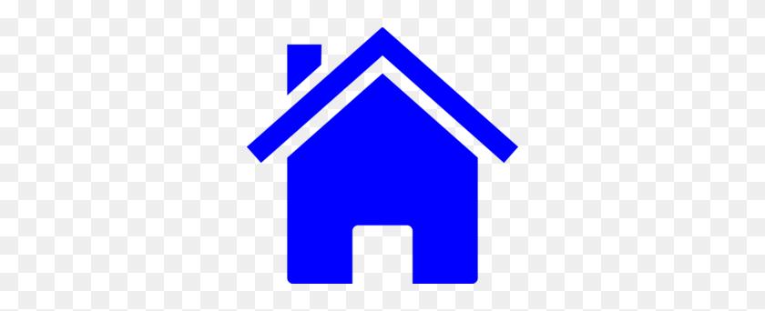 Simple Blue House Clip Art - Simple House Clipart
