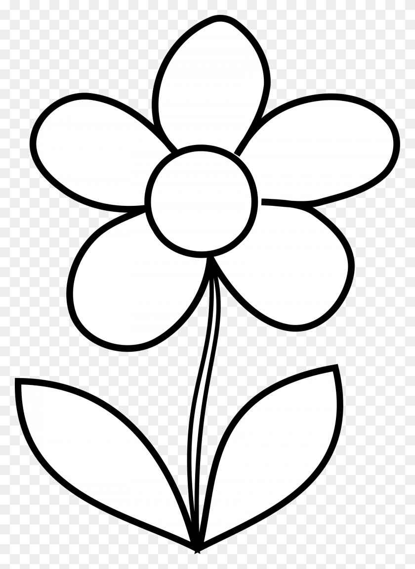 Simple Flower Bw Simple Flower Clipart Stunning Free Transparent Png Clipart Images Free Download
