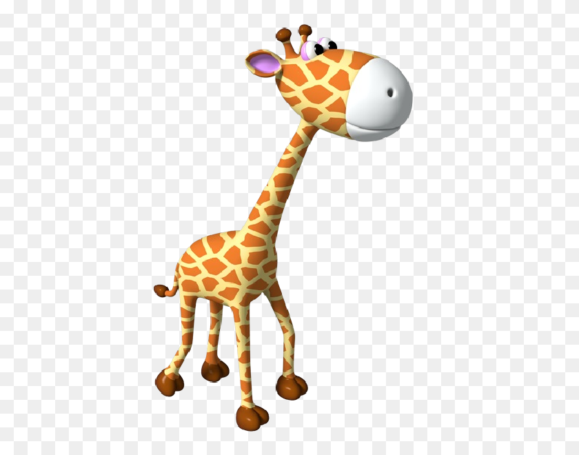 Simple Giraffe Outline Cute Giraffe Clipart Applique Image - Wildlife Clipart