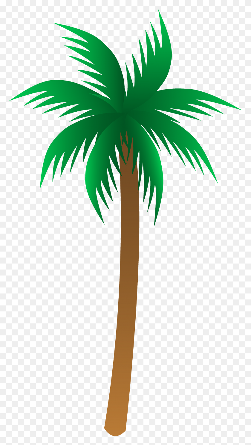 Simple Palm Tree Vector - Simple Tree Clipart