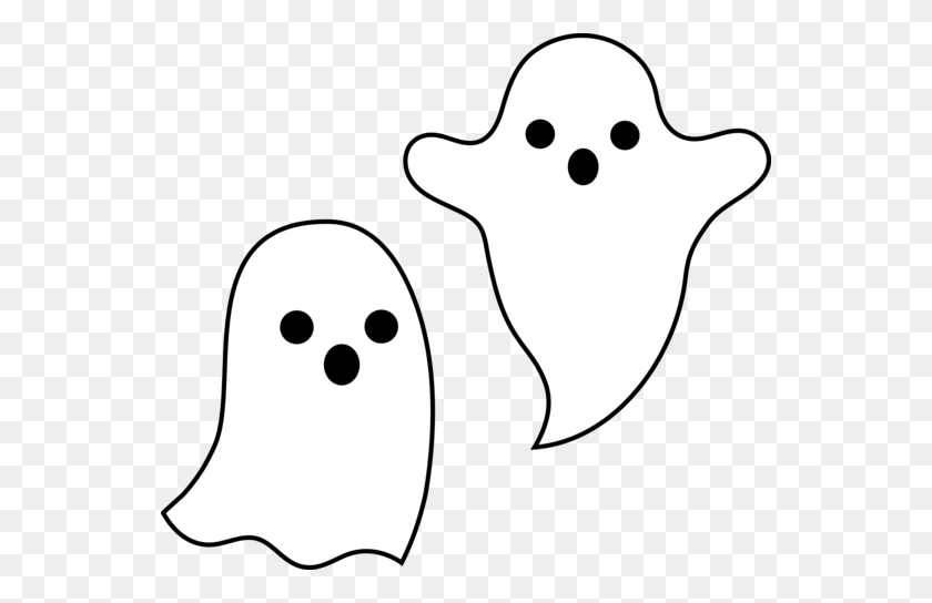 Simple Spooky Halloween Ghosts - Simple Banner Clipart