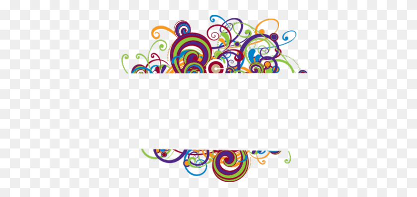Simple Swirls Border - Simple Frame Clipart