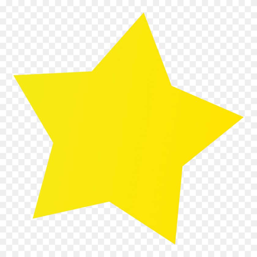 Simple Yellow Star For Kid Png - Yellow Line PNG