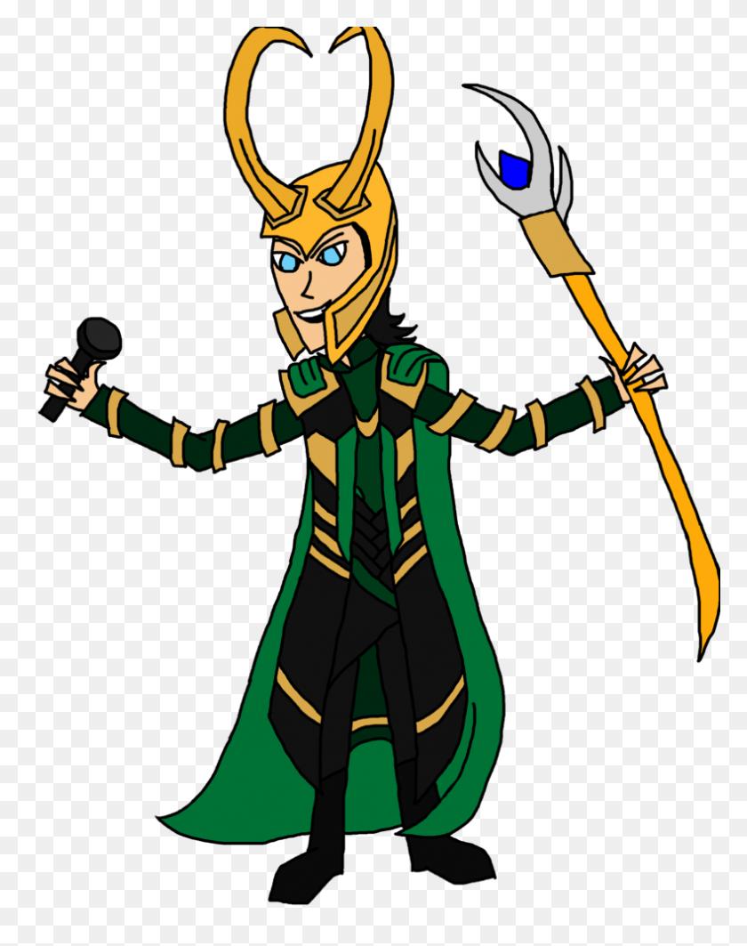 788x1014 Singing Loki - Loki PNG