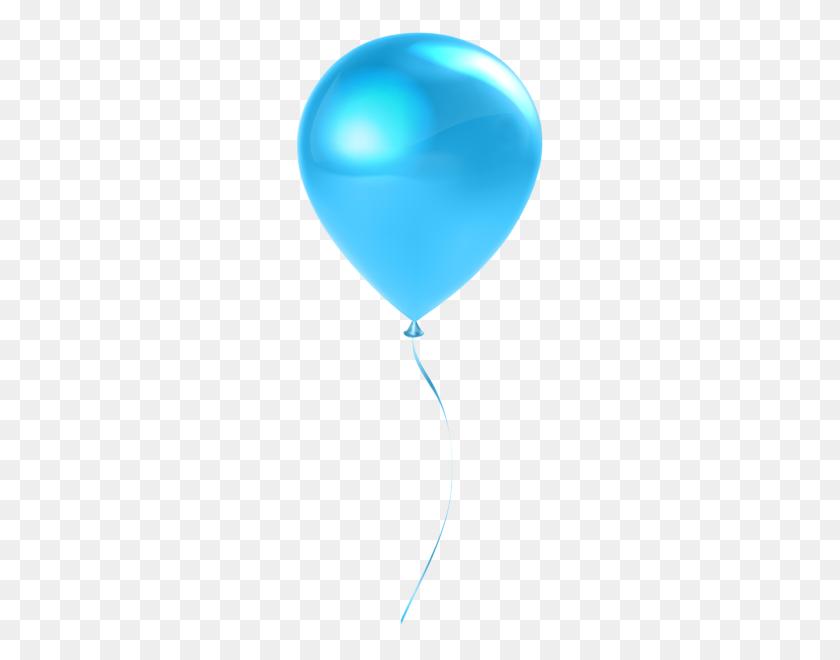 Single Blue Balloon Clip Art, Single Balloons - Blue Balloons PNG