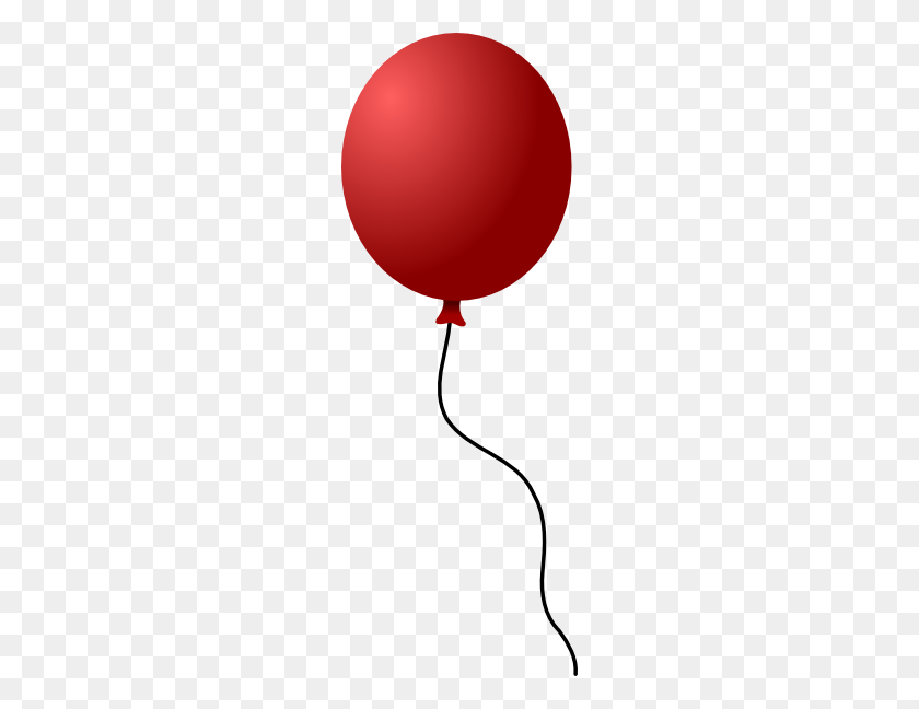 216x588 Single Clipart Red Balloon - Up Balloons Clipart