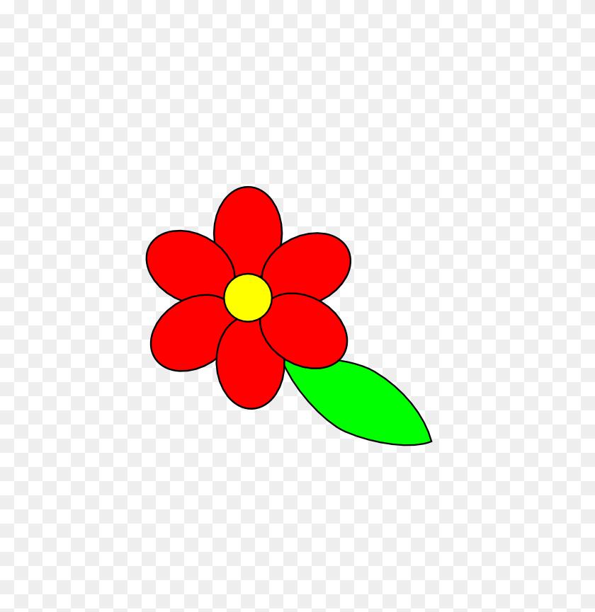 Single Flower Images Outline - Single Flower Clipart