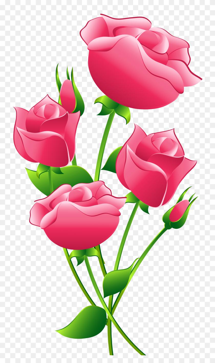 5434x9473 Single Pink Rose Clip Art Clipart Guru - Pink Flower Clipart