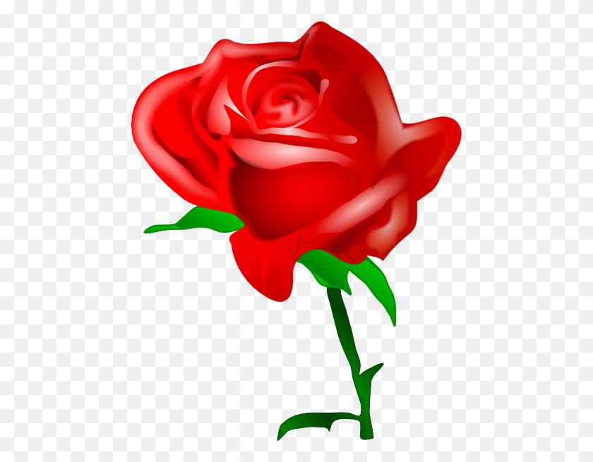 Single Red Rose Clip Art - Single Rose Clipart