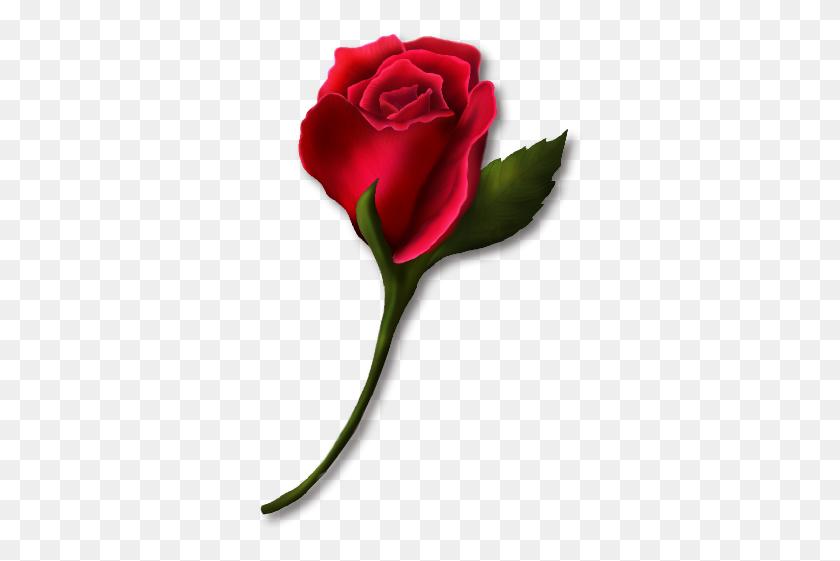 Single Rose Clip Art Clipart Floral Rose Stem - Single Rose Clipart