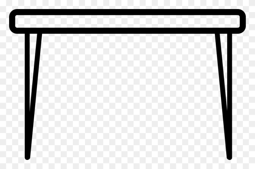 809x518 Siri - Table Black And White Clipart